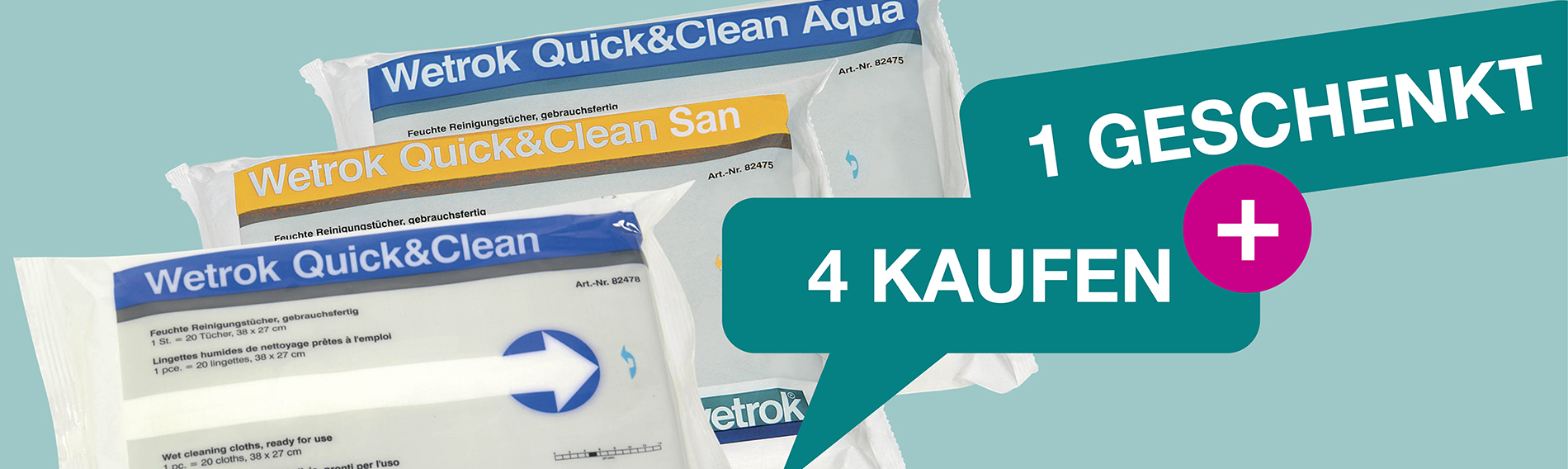 Quick & Clean: Buy 4, get 1 Free